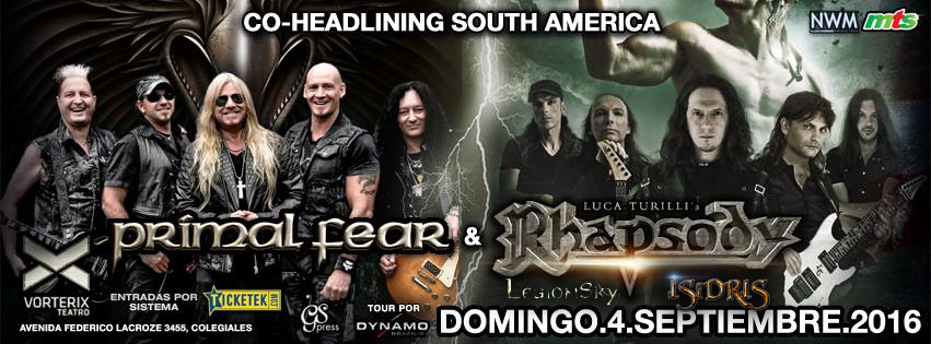 Isidris with Primal Fear and LT Rhapsody